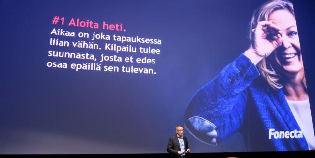 Fonectan Vesa-Pekka Kirsi Digitalist Leadershiop Forumissa.