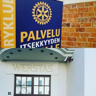 Kouluttamassa Tampereella Rotary-piirille julkisen kuvan luomisesta sosiaalisen median avulla.
