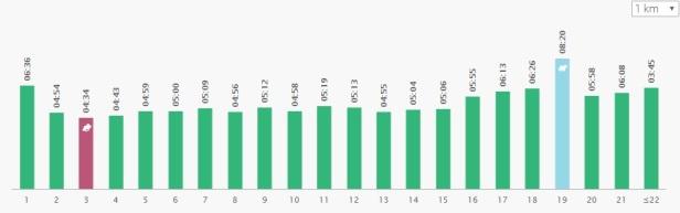 HCR 2018 kilometriajat